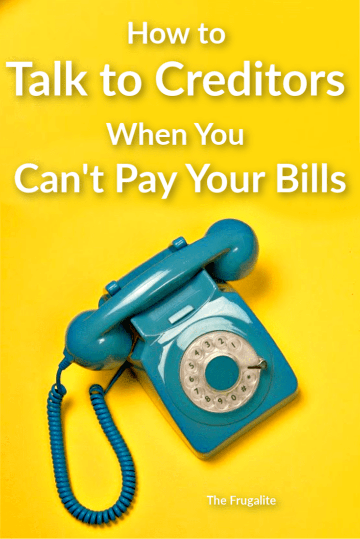 How to Talk to Creditors When You Can't Pay Your Bills