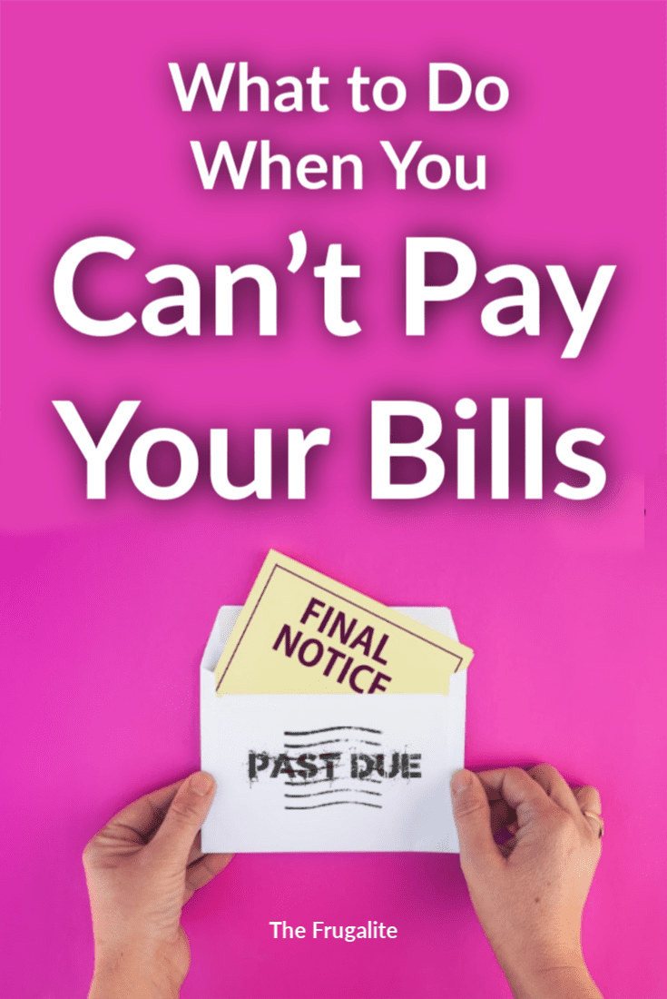What to Do If You Can't Pay Your Bills