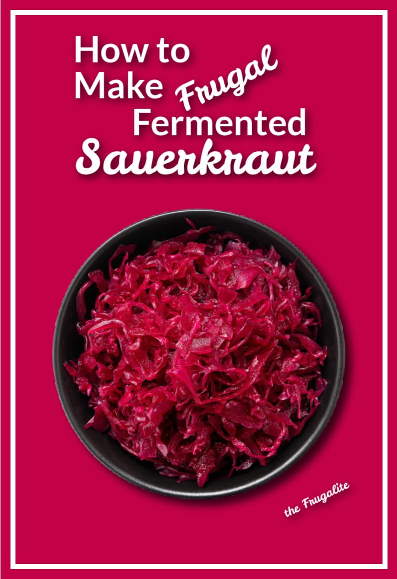 How to Make Frugal Fermented Sauerkraut