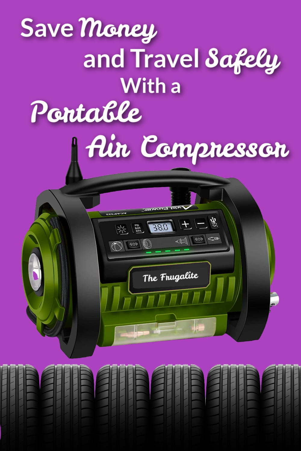 Save Money and Travel Safely With a Portable Air Compressor